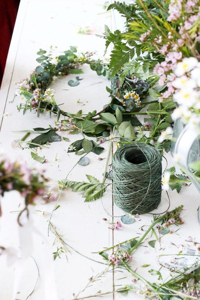 doe-het-zelf: bloemenkrans voor interieur