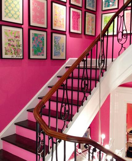 gekleurd trapgat