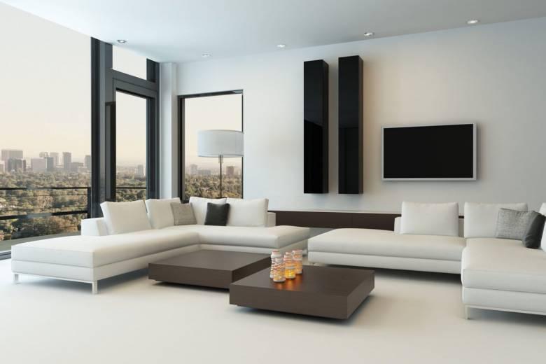 gietvloer in moderne woonkamer