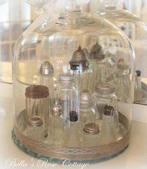 glazen stolpen peper en zout