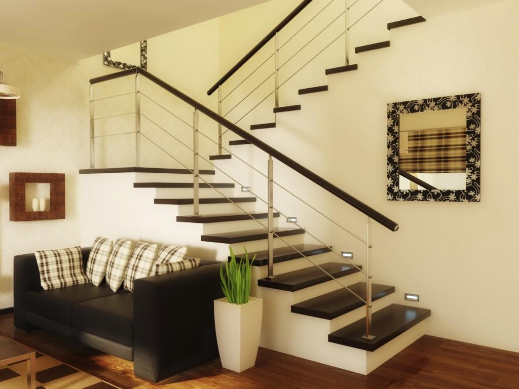 Maak van de trap in woonkamer een blikvanger - Interieur ideeen