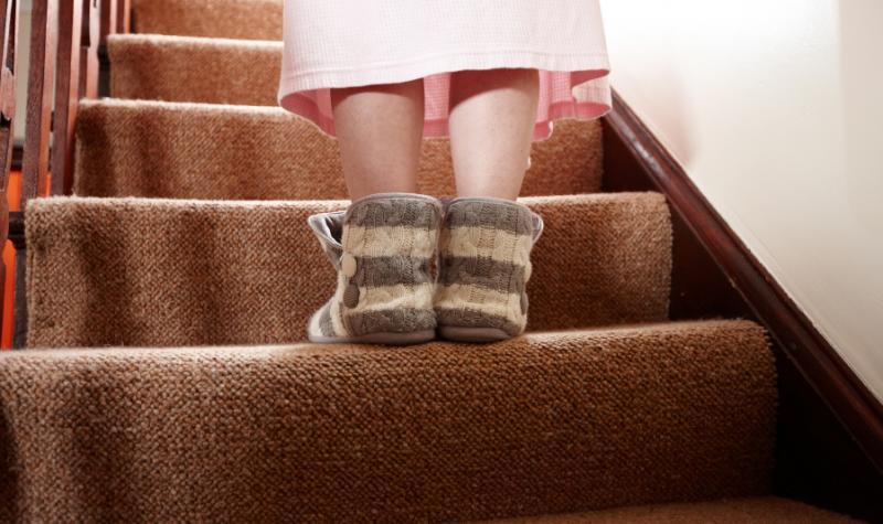 Een gestoffeerde trap