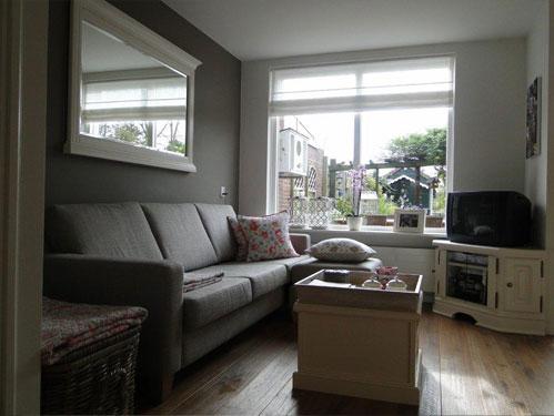 Interieur advies witte woonkamer for Landelijke woonkamer foto s