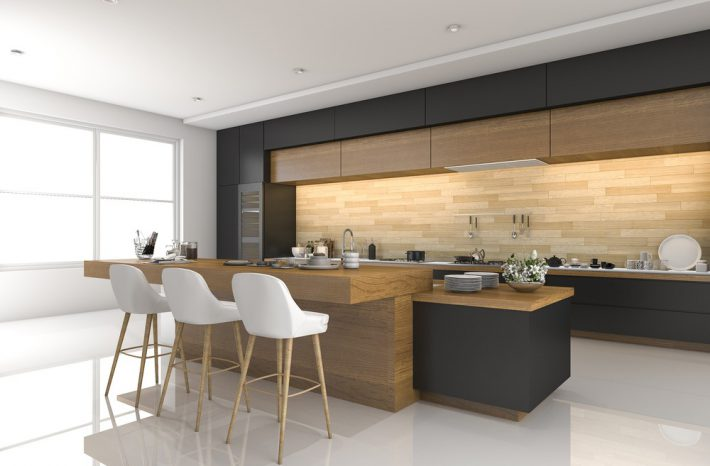 keuken houten bar