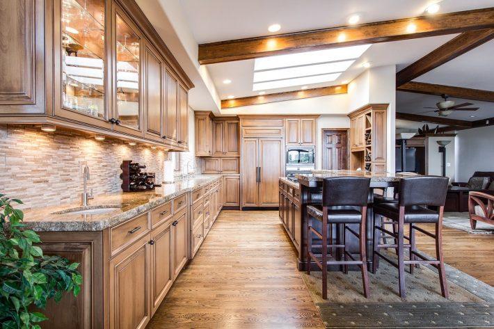 houten vloer in keuken