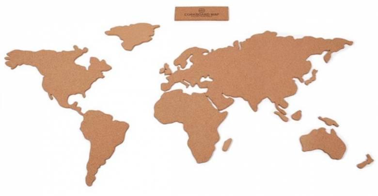 kurk wereldkaart cadeau