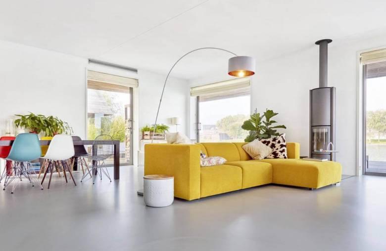 moderne woonkamer gietvloer