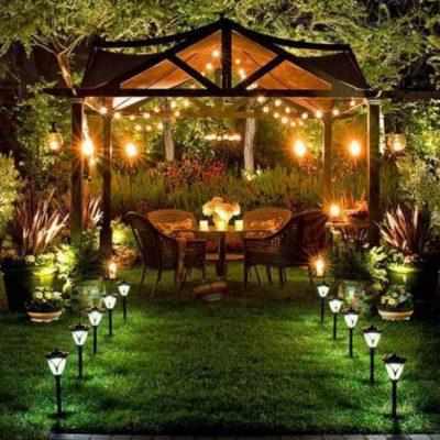 partytent tuin verlichting