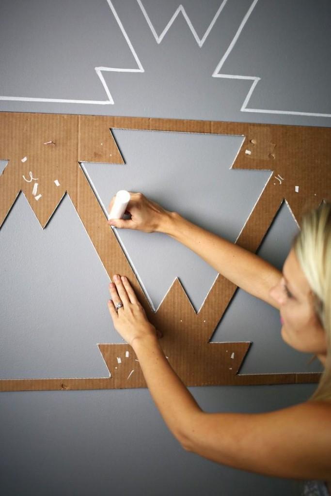 patroon op muren decoratie
