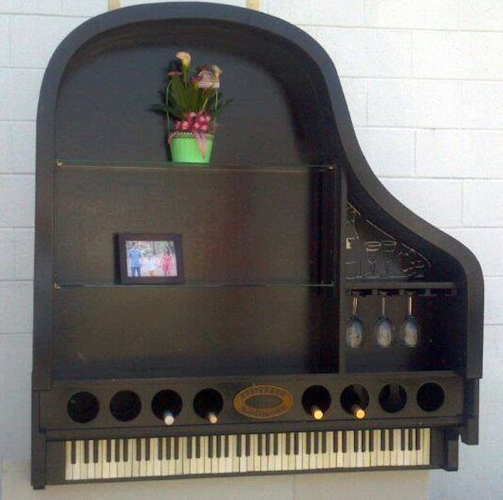piano muurdecoratie