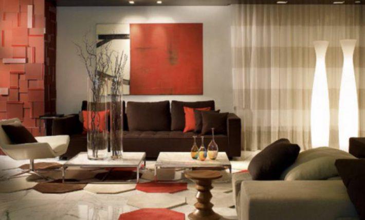 rode woonkamer voorbeelden