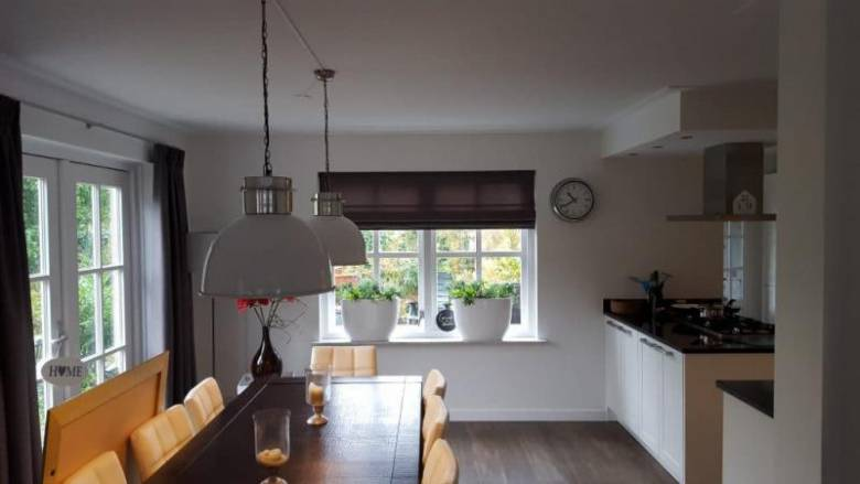 Elektrische vouwgordijnen in de keuken