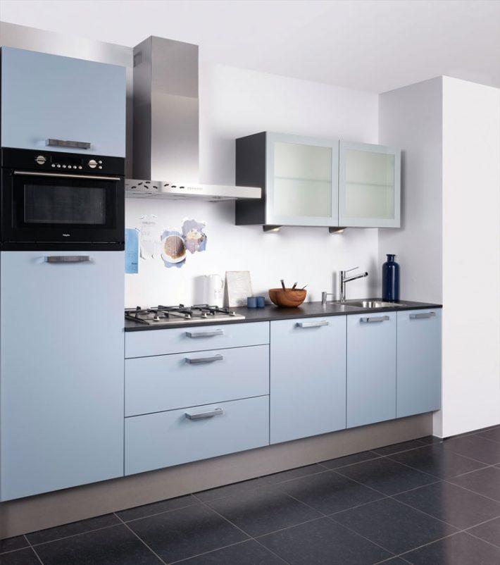 blauwe keukenkastjes
