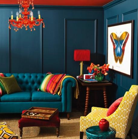 blauw interieur