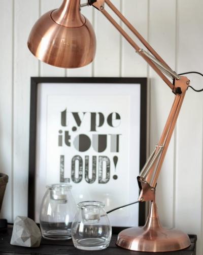 lamp en tekst