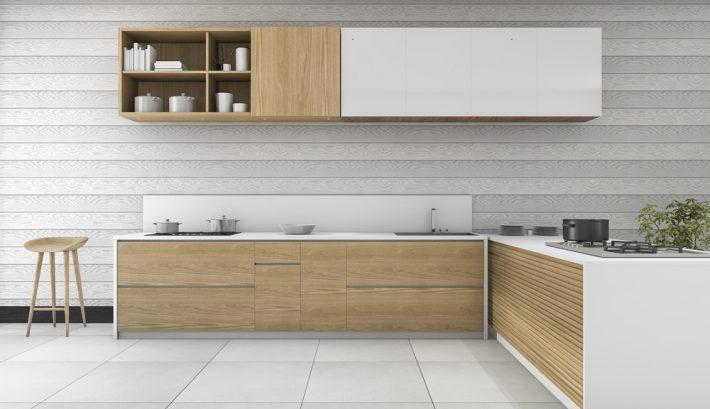 Keuken Houten Bar : Inspiratie voor een moderne houten keuken interieur ideeen