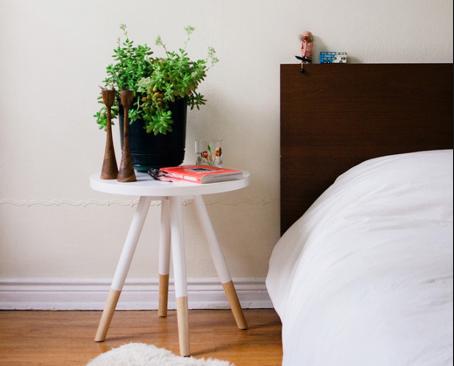 plant in slaapkamer