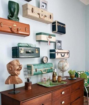 wanddecoraties koffers